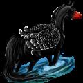 Riding pegasus Arabian Horse Flaxen Chestnut