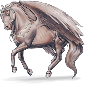 Riding pegasus KWPN Light Gray