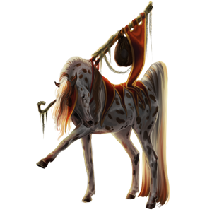Cavalo de passeio Caçador Irlandês Lazão crinalvo