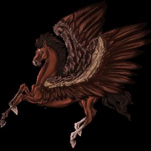 Pégase de selle Mustang Alezan Brûlé