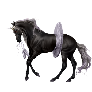 Riding unicorn Russian Don Horse Dark Bay