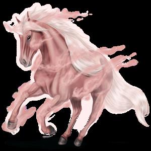 Riding unicorn Peruvian Paso Cremello