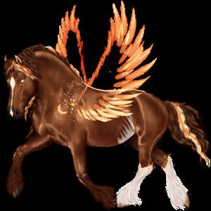 Pegasus-Reitpferd Paint Horse Palomino mit Tobiano-Scheckung
