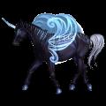 Winged riding unicorn Knabstrupper Black Leopard
