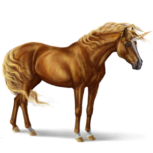 Riding unicorn Selle Français Liver chestnut