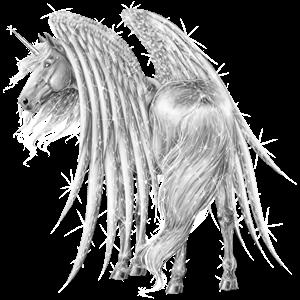 Winged riding unicorn Purebred Spanish Horse Flaxen Chestnut