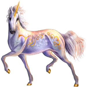 Winged riding unicorn Arabian Horse Fleabitten Grey