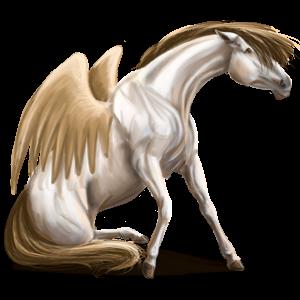 Pegasus-Reitpferd Araber Dunkelfuchs mit heller Mähne