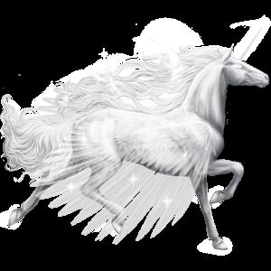 Winged riding unicorn Lipizzan Light Gray