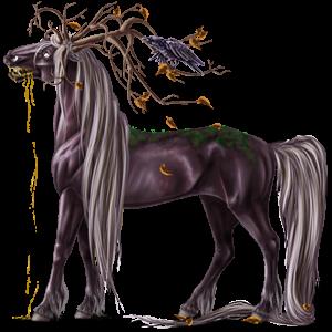 Riding unicorn Marwari Chestnut Tobiano