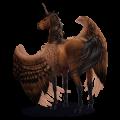 Winged riding unicorn Arabian Horse Fleabitten Gray