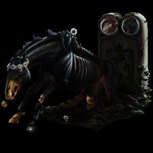 Верховая лошадь Мустанг Светло-серый