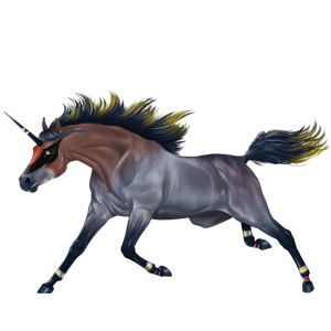 Rijpaard-eenhoorn Arabier Roodschimmel