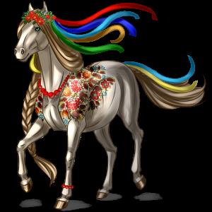 Pegasus-Reitpferd Argentinischer Criollo Dunkelfuchs