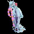 Riding unicorn Cremello