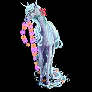 Riding unicorn Arabian Horse Dark Bay