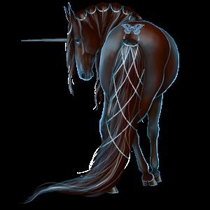 Riding unicorn Quarter Horse Cherry bay