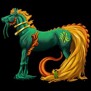 حصان ركوب تينيسيووكر أسود