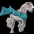 Cheval de trait Drum Horse Pie Tobiano Bai