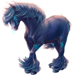 Cheval de trait Shire Noir