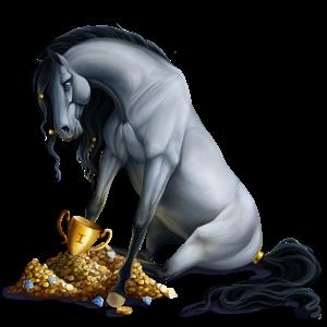 Верховая лошадь Донская Рыжая с лавовой гривой