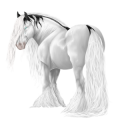 Trekpaard-pegasus Percheron Lichtgrijs