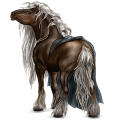 Draft horse Shire Black