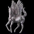 Riding pegasus KWPN Dapple Gray