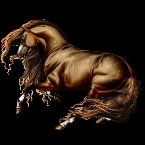 Верховая лошадь Мустанг Рыжая с лавовой гривой