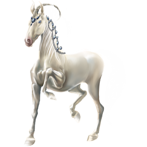 Riding unicorn Purebred Spanish Horse Cremello