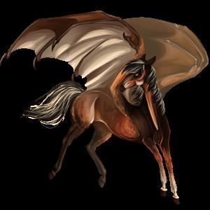 Pegaz wierzchowy Koń pełnej krwi angielskiej Bułana