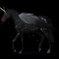 Skrzydlaty jednorożec wierzchowy Koń andaluzyjski Jasnosiwa