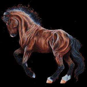 Jezdecký pegas Hannoverský kůň Červený bělouš