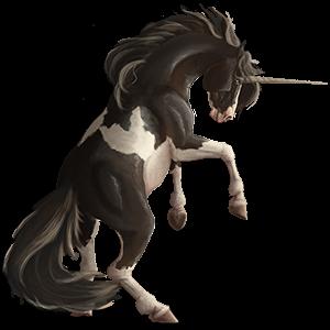 Unicornio de montar Cuarto de milla Negro