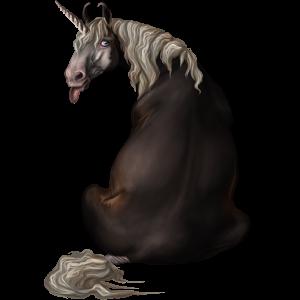 Riding unicorn Arabian Horse Fleabitten Grey