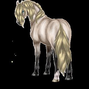 Ridehest Mustang Rødbrun