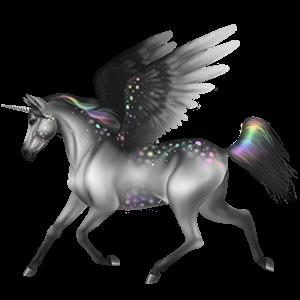 Winged riding unicorn Selle Français Mouse Gray