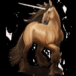 Riding unicorn Arabian Horse Fleabitten Gray