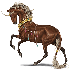 Riding unicorn Appaloosa Chestnut Spotted Blanket