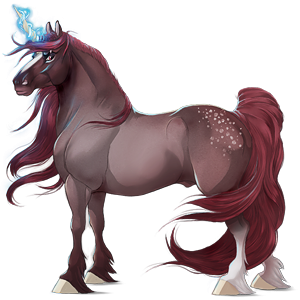 Licorne de selle Paint Horse Pie Tobiano Alezan