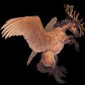 Winged riding unicorn Arabian Horse Roan