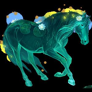 Riding Horse Curly Bay Tobiano