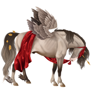 Winged riding unicorn Appaloosa Chestnut Leopard