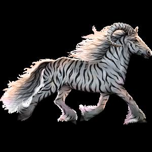Jezdecký jednorožec Islandský kůň Červený bělouš