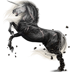 Riding unicorn Arabian Horse Mouse Gray