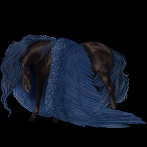 Pegasus-Reitpferd Argentinischer Criollo Fuchs mit heller Mähne