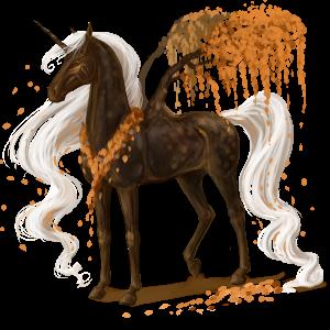 Unicornio de montar alado Marwary Pío Tobiano Isabelo