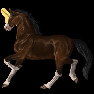 Unicorn pony Highland Pony Flaxen Liver chestnut