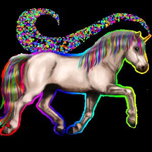 Riding unicorn Nokota Bay Overo