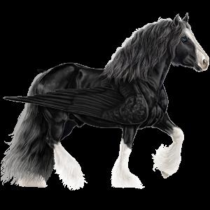Tažný pegas Drum Horse Hnědák